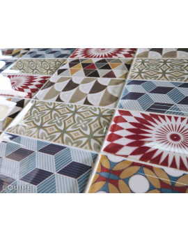 metro equipe patchwork coloré