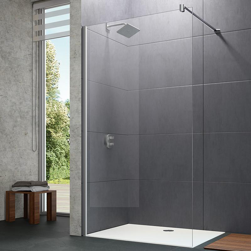 Paroi de douche latérale seule barre transversale