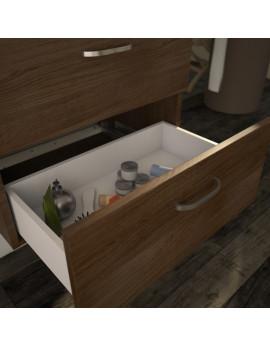 meuble NAKURU double vasque / 4 tiroirs